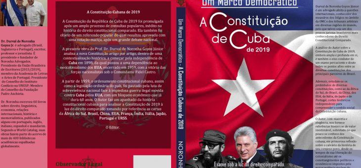 Lançamento de nova obra: A Constituição de Cuba de 2019